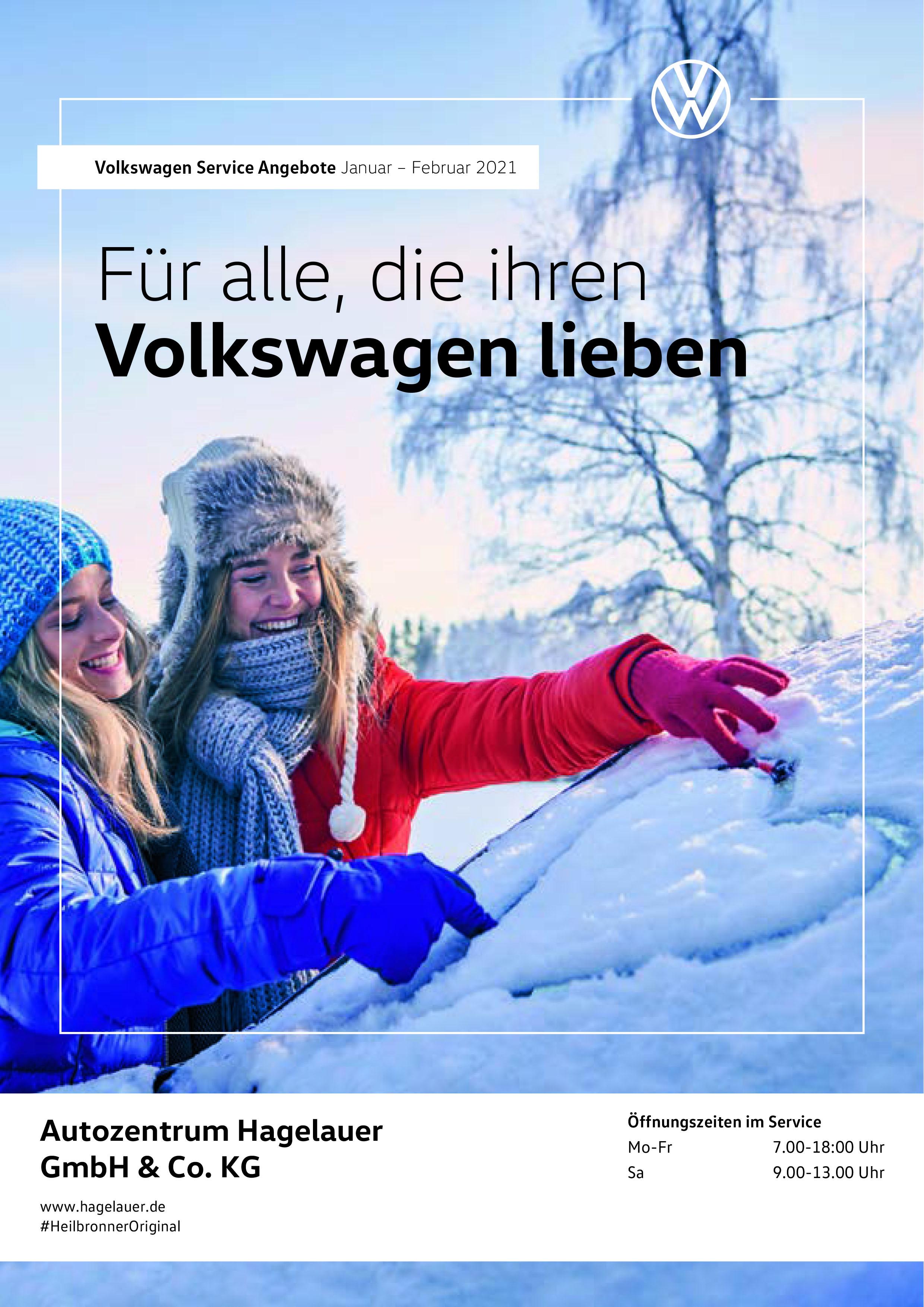 Volkswagen Service Angebote: Januar – Februar 2021